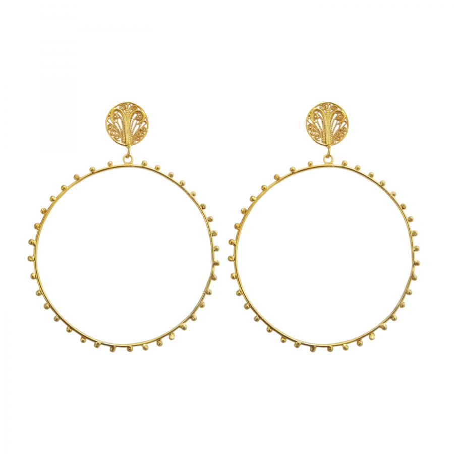 Alma Large Hoops
